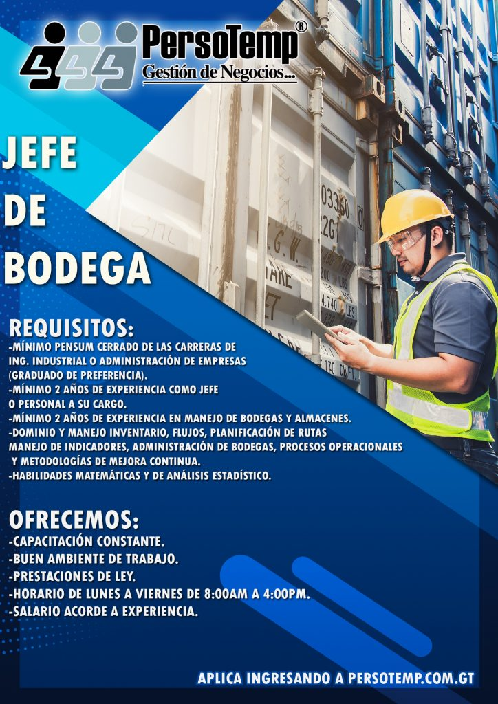 JEFE DE BODEGA