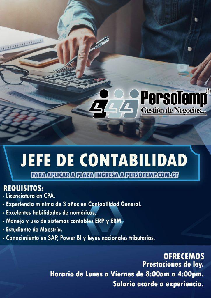 JEFE DE CONTABILIDAD