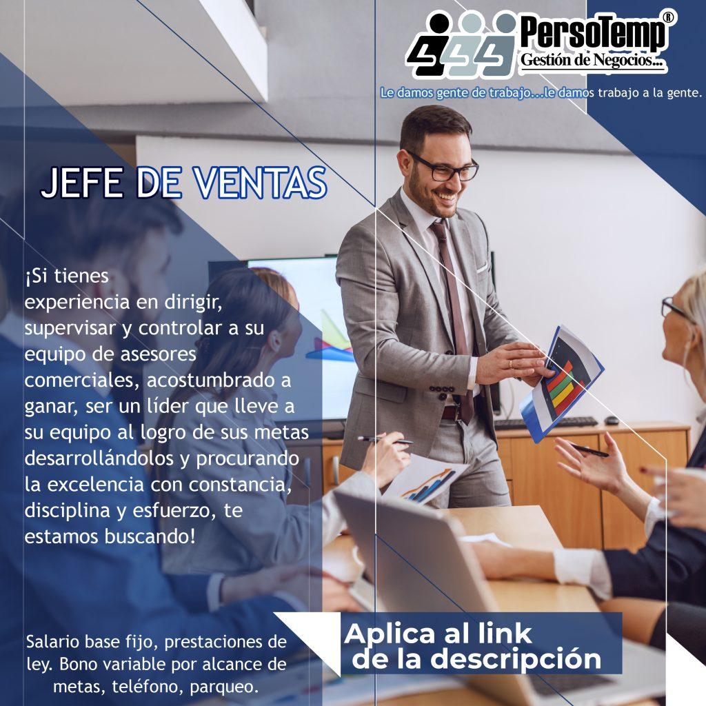 JEFE DE VENTAS
